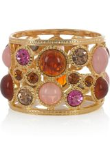 Kenneth Jay Lane 22karat Goldplated Crystal Cuff - Lyst