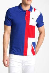Lacoste United Kingdom Flag Piqué Polo - Lyst