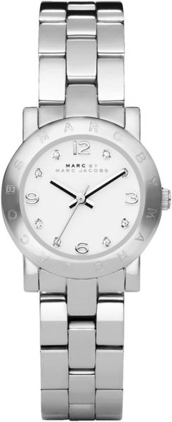 Marc By Marc Jacobs Womens Mini Amy Stainless Steel Bracelet Watch  in Silver (steel)