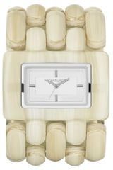 Michael Kors Womens Rio Alabaster Acetate and Stainless Steel Cuff Bracelet 33x50mm - Lyst