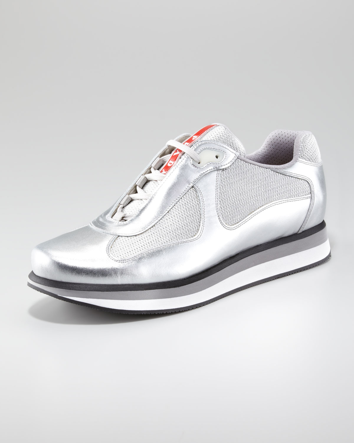 Prada Sport Metallic Low-Top Sneakers buy cheap comfortable looking for cheap online discount exclusive cheap sale fashion Style BTLI4T