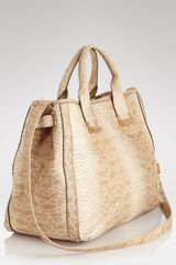 Rachel Zoe Embossed Snake Kate Tote  in Beige (natural) - Lyst