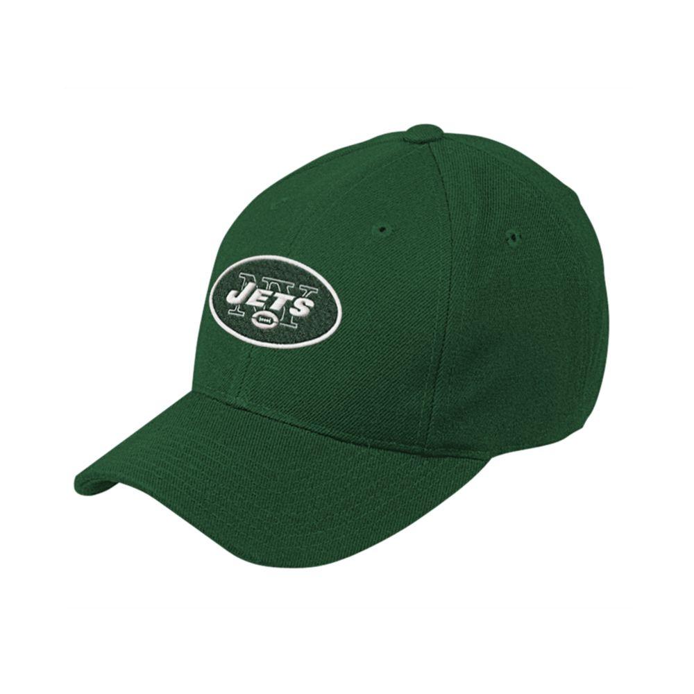 reebok new york jets structured adjustable baseball cap in