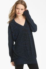 Roberto Cavalli Oversized Knit Sweater in Blue (navy) - Lyst