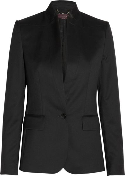 Stella Mccartney Floris Wooltwill Jacket in Black - Lyst