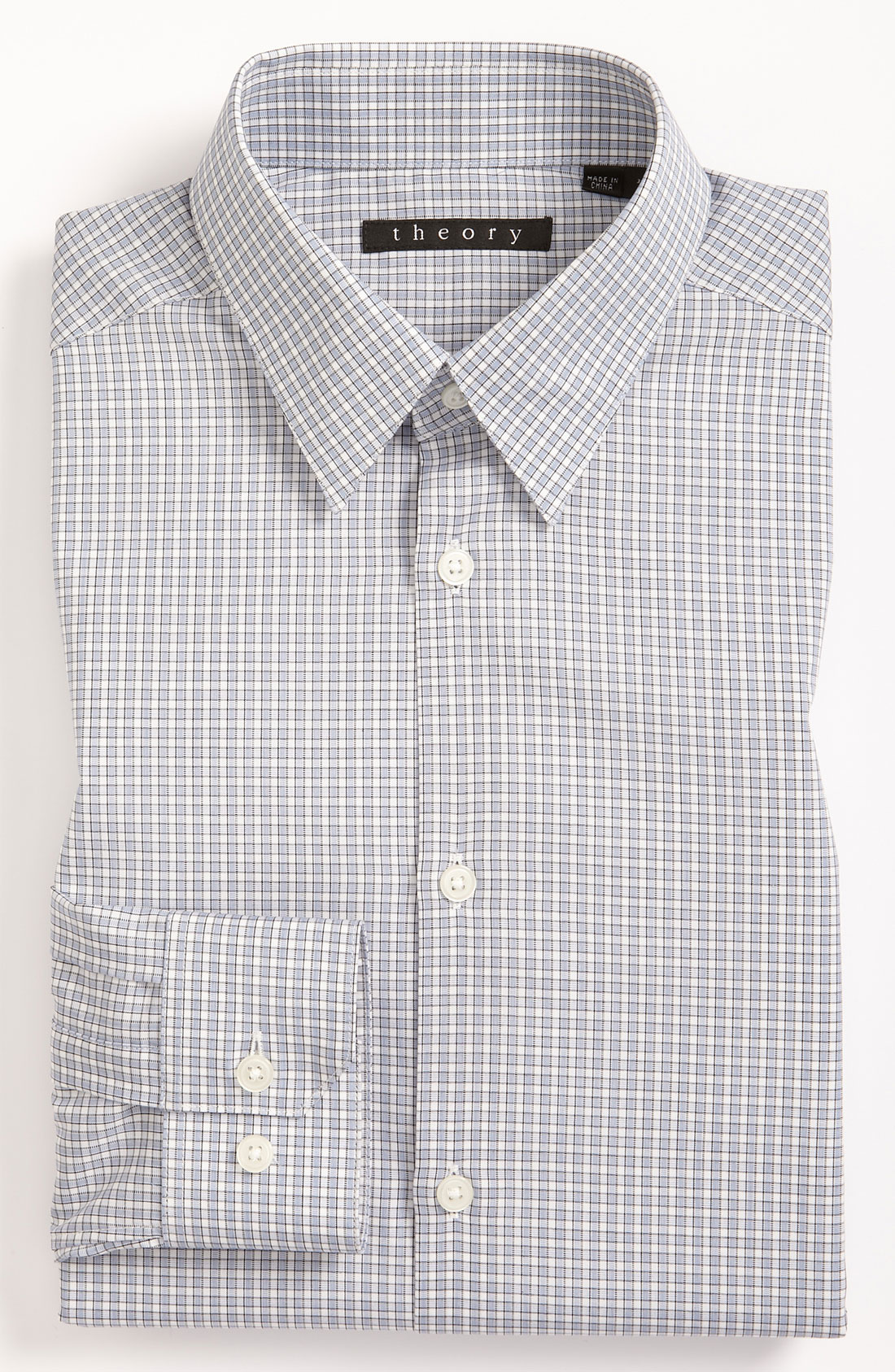 Theory extra trim fit dress shirt in blue for men blue for Extra slim dress shirt