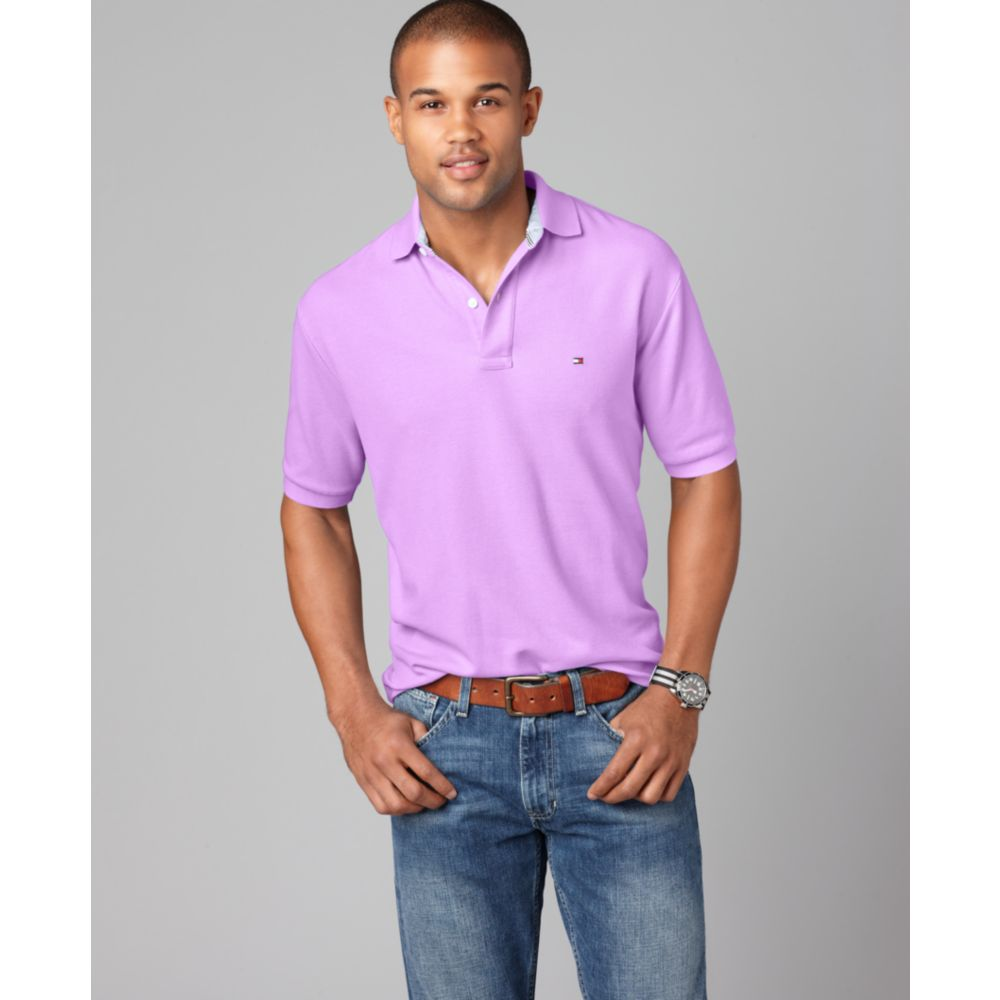 tommy hilfiger slim fit ivy polo shirt in purple for men lyst. Black Bedroom Furniture Sets. Home Design Ideas