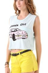 Wildfox California Girl Charlie Tank in Yellow - Lyst