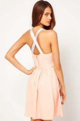 ASOS Collection Asos Skater Dress with Cross Back - Lyst