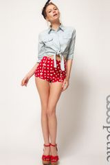 Asos Collection Asos Petite Knicker Shorts in Heart Print in Red (print) - Lyst