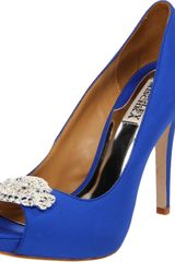 Badgley Mischka Womens Goodie Peeptoe Pump