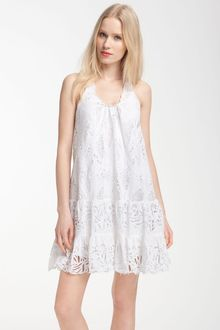 Catherine Malandrino Sleeveless Tiered Crochet Dress - Lyst