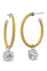 Charriol  Topaz Gold Hoop Earrings - Lyst