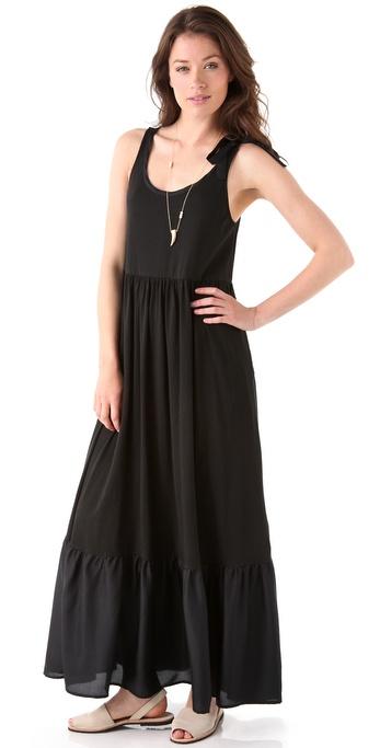 Lyst Dkny Pure Dkny Tiered Maxi Dress In Black