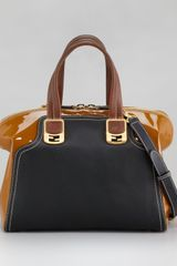 Fendi Colorblock Chameleon Tote Military - Lyst