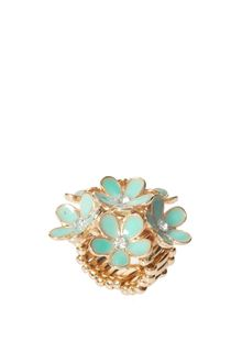 Love  Rocks Flower Ring - Lyst