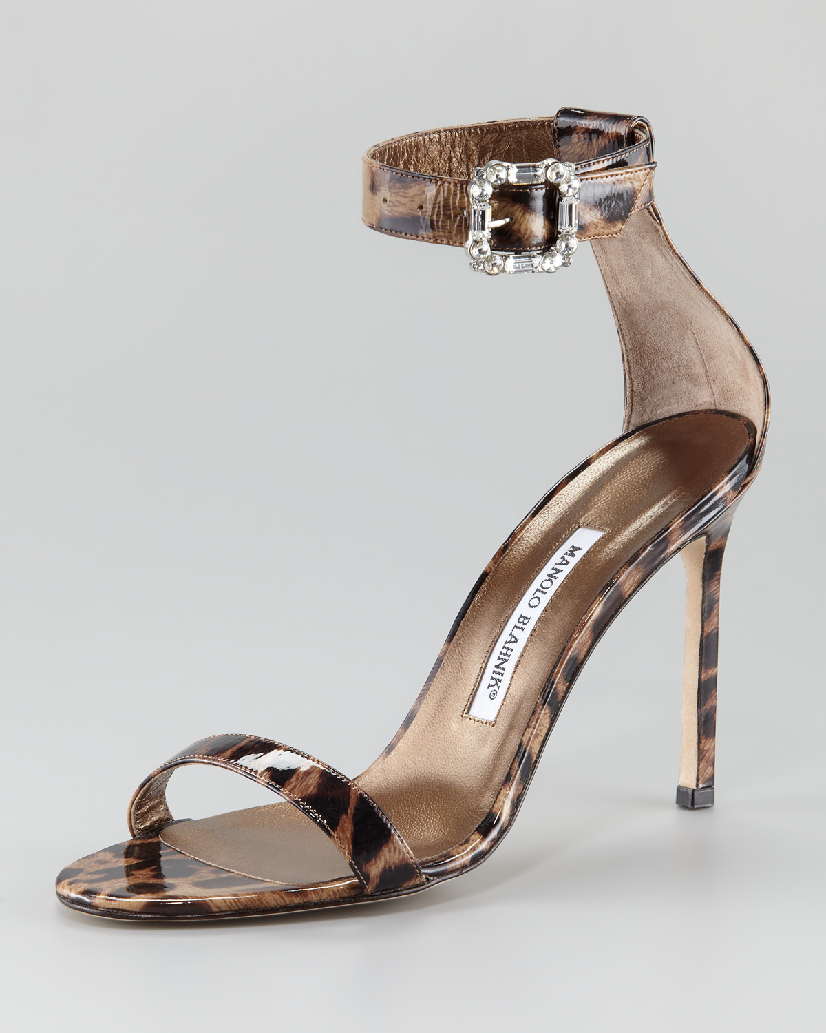 Manolo Blahnik Patent Leather Printed Sandals cheap sale under $60 cheap nicekicks cheap view tumblr cheap online lYvy8bzcO