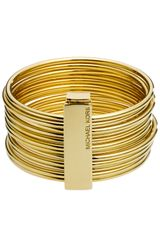 Michael Kors Golden Stackable Bangles - Lyst