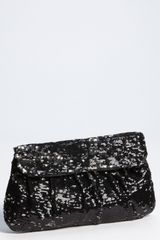 Natasha Couture Sequin Clutch - Lyst