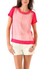 Rag & Bone Gretchen Top in Pink (blush) - Lyst