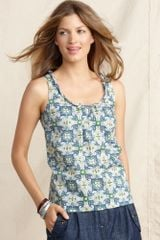 Tommy Hilfiger Sleeveless Printed Cotton Tank Top - Lyst