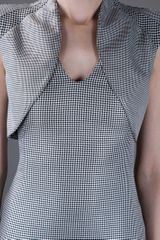 Alexander Mcqueen Houndstooth Dress in Gray (black) - Lyst