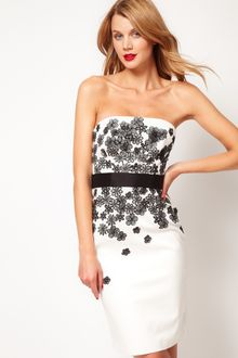 Coast Coast 3d Flower Bandeau Dress - Lyst