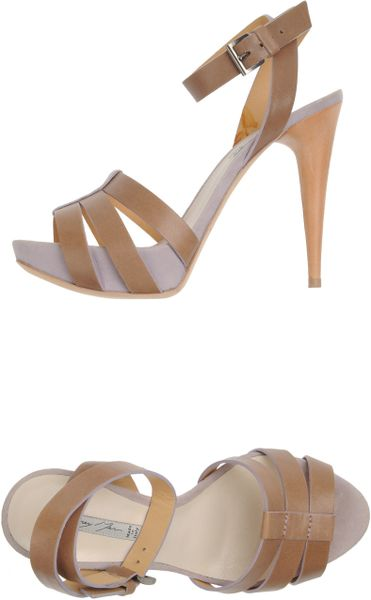 Grey Mer Platform Sandals in Brown (khaki) - Lyst