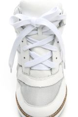 Jeffrey Campbell Gio Hidden Wedge Sneakers in White - Lyst