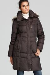 Marc New York Fur Trim Hood Down Coat - Lyst
