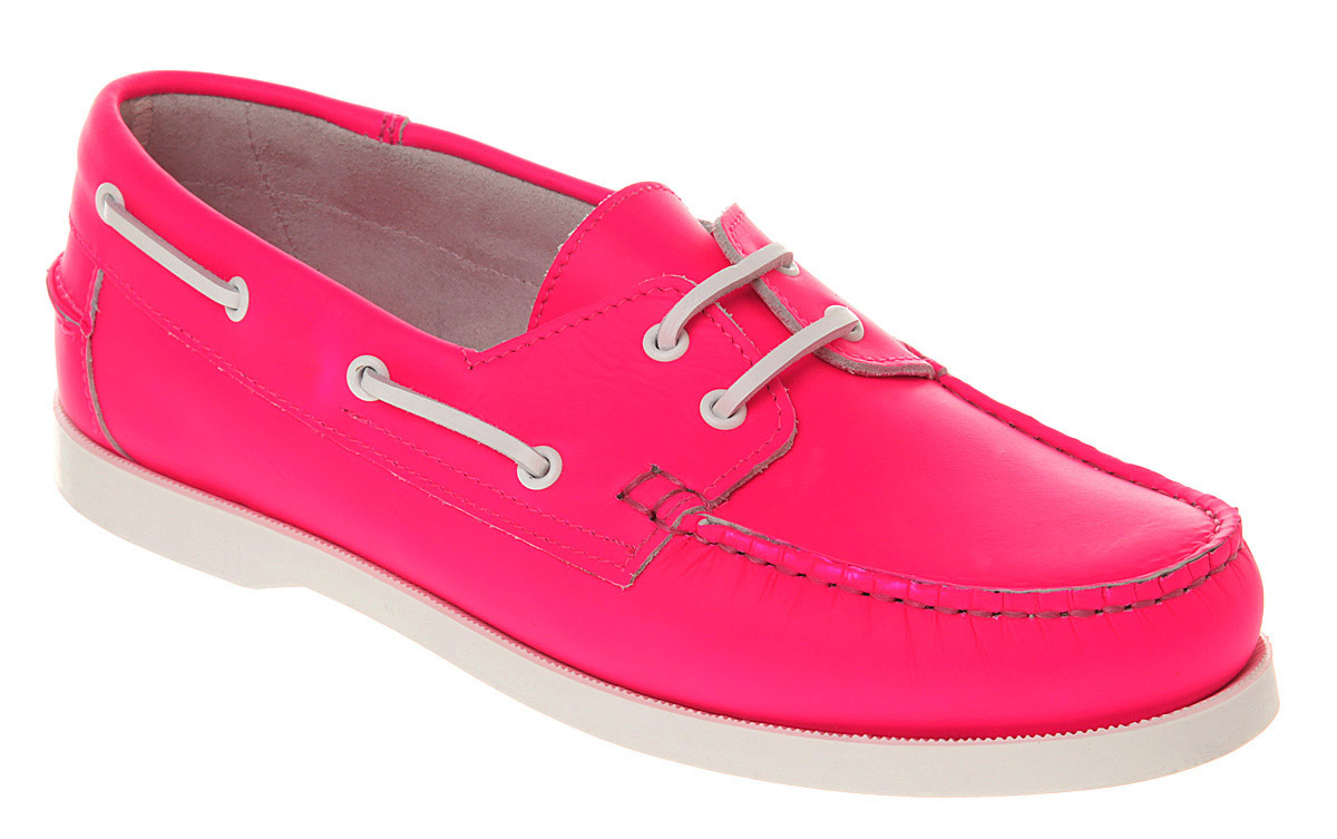 Office Yachting Boat Shoe Neon Pink Lthr in Pink for Men | Lyst
