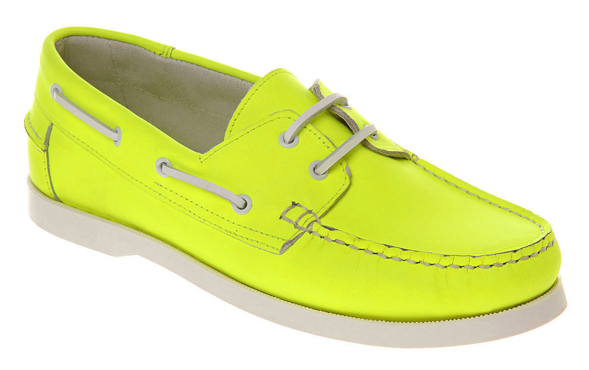 Lyst - Office Yachting Boat Shoe Neon Yellow Lth in Yellow ...