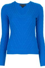 Ralph Lauren Black Label Cable Knit Sweater - Lyst
