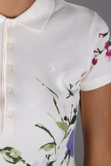 Ralph Lauren Blue Label Printed Polo Shirt in White - Lyst