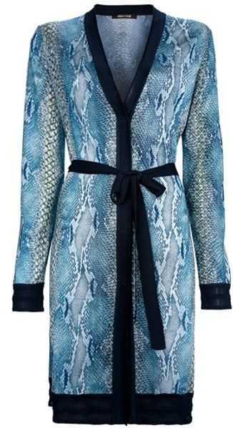 Roberto Cavalli Snakeskin Print Dress in Blue (turquoise) - Lyst