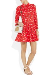 Sonia By Sonia Rykiel Floralprint Cotton Mini Dress in Floral - Lyst