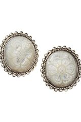 Stephen Dweck Carved Mother- Of- Pearl Clip Earrings - Lyst