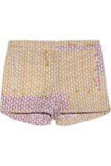 Tibi Printed Stretch Cotton Shorts - Lyst
