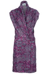 Yves Saint Laurent Shawl Collar Dress - Lyst