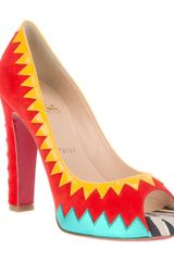 Christian Louboutin Peep Toe Pumps - Lyst
