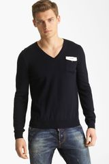 DSquared2 Wool Vneck Sweater - Lyst