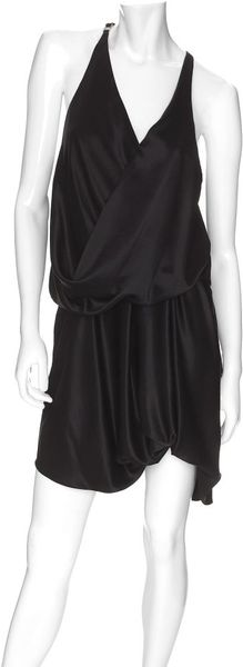 Helmut Lang Exclusive Twisted Silk Dress in Black - Lyst