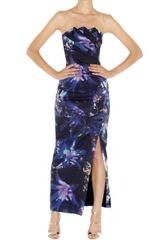 Karen Millen Signature Print Maxi Dress - Lyst