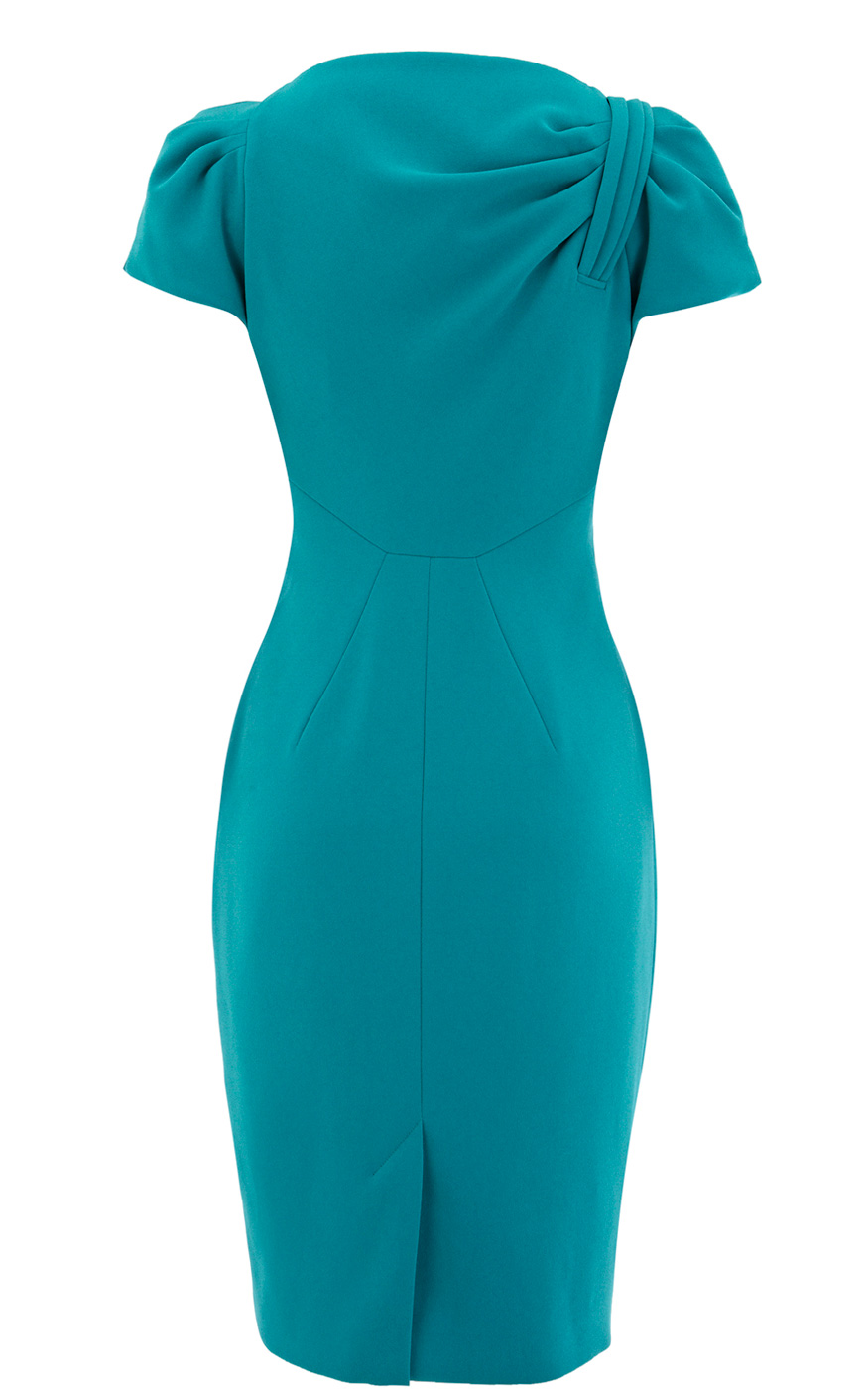 karen millen turquoise tailored crepe dress product 4 3544029 313536117