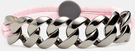 Marc By Marc Jacobs Turnlock Chain Bracelet in Pink (hematite/ colonial rose) - Lyst