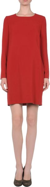 Max Mara Short Dress in Red - Lyst