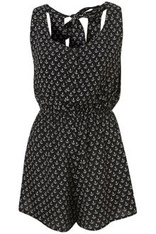 Topshop Anchor Print Playsuit Cover Up - Lyst