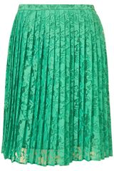 Topshop Pleated Lace Prom Skirt - Lyst
