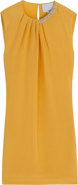 3.1 Phillip Lim Beaded Neck Sleeveless Dress - Lyst
