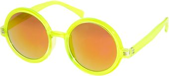 Asos Round Sunglasses with Pink Mirrored Lens - Lyst